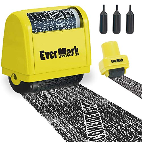 ID Protection Roller Stamps - Protect Your Personal Identity - Confidential Eraser Stamp, Theft...