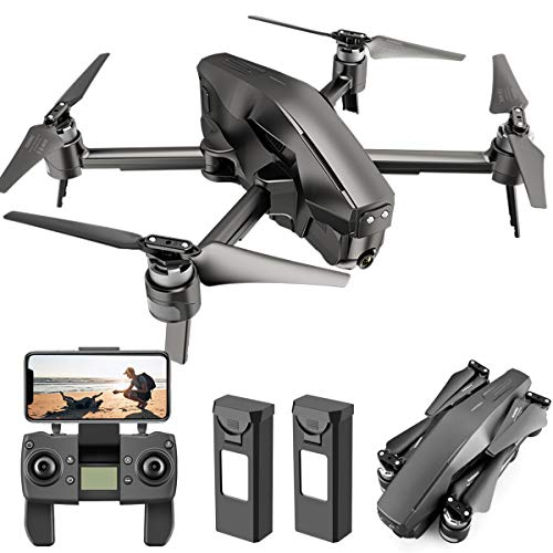 4DRC M1 GPS Drone with 4K FHD Camera 5G Transmission FPV Live Video Foldable Quadcopter, Drone for Adults with Brushless Motor, Auto Return Home, Follow Me, 60 Minutes Flight Time, Includes 2 Battery