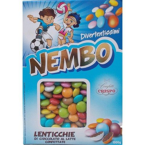 CRISPO Confetti NEMBO LENTICCHIE Tipo Smarties Assortiti 1000 GR BOMBONIERE - 6030