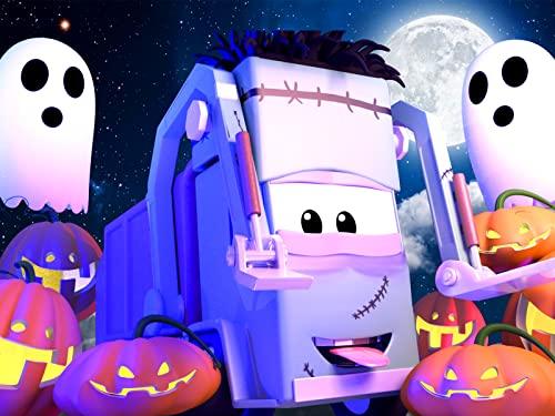 【Halloween ! 】Spinnwben / Geisterbahn / Klein Francis stecken zwei Kürbisse auf seiner Gabel/ Steve die Dampfwalze