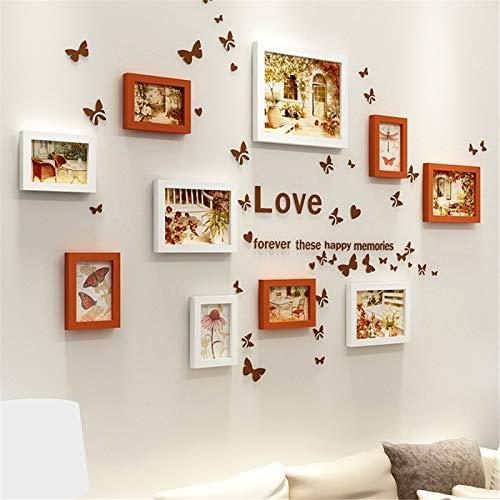 FSGSD Fotorahmenset Aus Polymermaterial/Fotowand / 1 Set / 10 Stück/Bilderrahmen Für Wohnzimmer- / Schlafzimmerwanddekoration