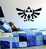 Triforce Zelda Original Wall Decal Sticker Vinyl Art Bedroom Living Room Decor Decoration Teen Quote Inspirational Boy Girl Game Gaming Video Games Retro Old School Controller Cool Link