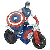Marvel – Avengers – Captaine America avec Moto – Figurine 15 cm + Véhicule