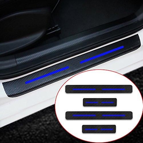 Cobear Einstiegsleiste Schutz Aufkleber Reflektierende Lackschutzfolie für Golf4 Golf5 Golf6 Golf5 Golf GTI Einstiegsleisten Blau 4 Stück