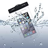 Premium Waterproof Case Transparent Bag Cover with Touch Screen for Tracfone ZTE ZMax 2 - Acer Liquid Jade Primo - Alcatel Jitterbug Smart - Alcatel OneTouch Idol Mini