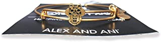 Disney Parks Alex and Ani Jewelry Gifts - Minnie Mouse Icon Face Slider Bangle Bracelet - Gold