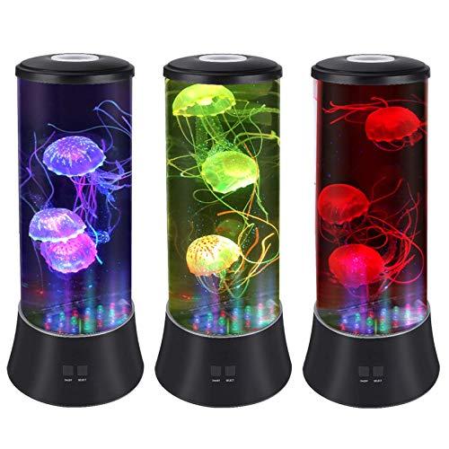FICHENG Illuminated Jellyfish Lamp – 7 Color Changing Aquarium Mood...