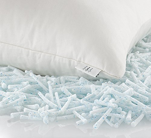 Brentwood Home Pacifica Gel Memory Foam Pillow with Organic Cotton Cover, Made In USA, Standard
