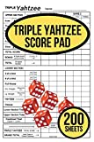 200 TRIPLE Yahtzee Score Pads for TRIPLE Yahtzee: 200 TRIPLE Yahtzee Score Sheet, Convenient Size For Triple Yahtzee Game, Triple Yahtzee Game Record Score Keeper Book, Score Card