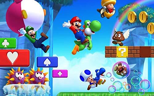 Nuevo Super Mario Bros. In Pintura Por Numeros, Pintura Para Pintar Por Números Con Pinceles Y Colores Brillantes, Cuadro De Lienzo Con Numeros Pre Dibujado Fácil De Pintar-40 x 60cm