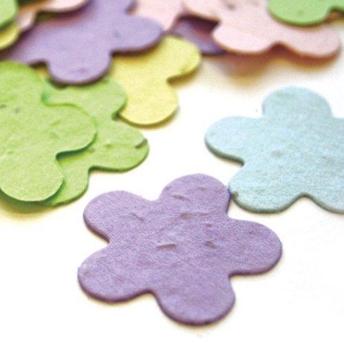 Pastel Mix - 5 Petal Plantable Seed Confetti - Tri Pack (3 350 piece bags = 1050 pieces)