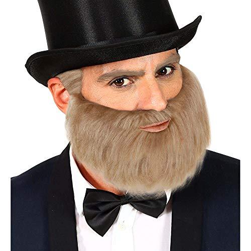 Widmann 01858 baard voor meerdere karakters, heren, grijs, eenheidsmaat