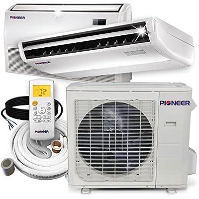 PIONEER Air Conditioner UYB024GMFILCAD Pioner Floor, Ceiling Split Ductless Inverter and Heat Pump System Set, 24000 BTU, 24, 000 BTU, 208-230 V