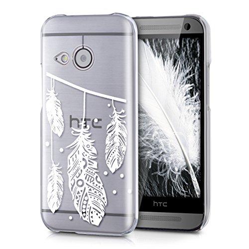 kwmobile Hülle kompatibel mit HTC One Mini 2 - Handyhülle - Handy Hülle Federkette Weiß Transparent