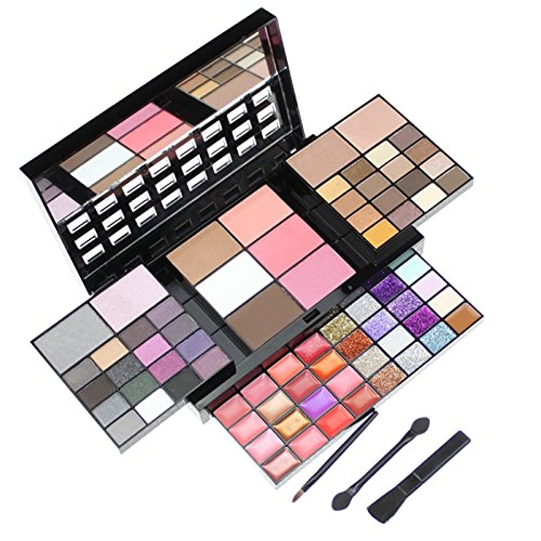 見て抜け目のない阻害する74 Color Eyeshadow Palette Set Make up Pallete 36 Eyeshadow + 28 Lip Gloss +6 Blush +4 Concealer Makeup Kit Cosmetics Free shipping