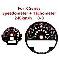 カーボンファイバーレーザースピードメータータコメーターダイヤルステッカー装飾に適合 Mini Cooper F/Rシリーズ (タイプG, R55-R61カーボンファイバー)