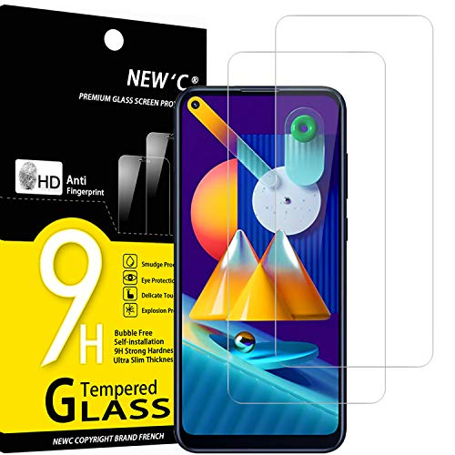 NEW C 2 Unidades, Protector de Pantalla para Samsung Galaxy A11, Galaxy M11, Antiarañazos, Antihuellas, Sin Burbujas, Dureza 9H, 0.33 mm Ultra Transparente, Vidrio Templado Ultra Resistente