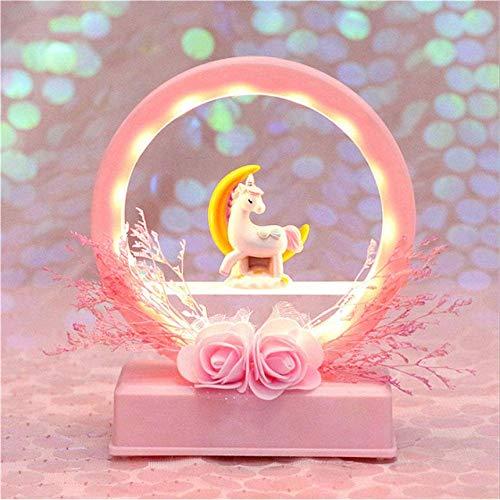 Muziekdoos kinderen speeldoos cartoon Unicorn LED-nachtlampje baby-kinderkamer lampen Home Decor verjaardagscadeau voor kinderen vriendin 4 meyeye 2