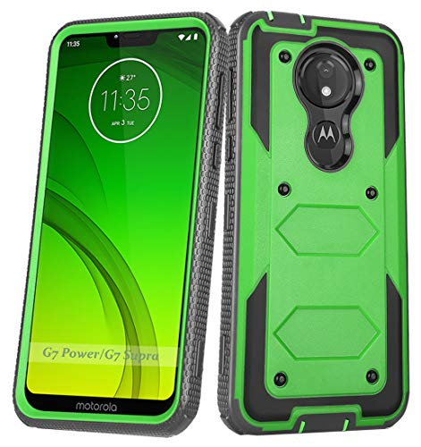 Aimoll-88 for Motorola Moto G7 Power Phone Case, Moto G Supra/G Power Case with Built in Screen Protector Shockproof Scratch/Drop/Dust-Proof Protective Cover Case for Moto G Power/G Supra (Green)