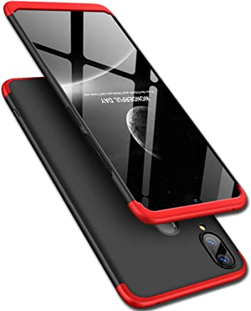 TheGiftKart Full Body 3 in 1 Slim Fit 360 Degree Protection Hard Bumper Back Case Cover for Samsung Galaxy A20 / A30 (Red Black)