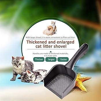 Pelle à Litière Pet Scoop Tamiser pour Animaux de Compagnie Chien Chat en PVC Plastique avec Manches pour Animalerie Kitty Chat Chien