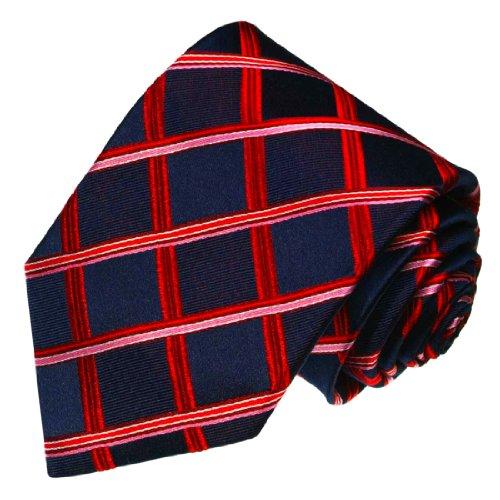 Lorenzo Cana - Marken Krawatte aus 100{69d54a5b5087640880eebd681ff39a6412df6c37bc6363654cc272ad61456a91} Seide, blau marine rot rose Karos - 84476
