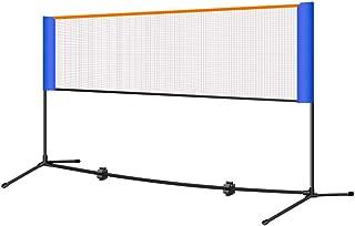 Red de tenis Redes Soporte De Tenis Plegable Simple Bádminton Red Bajera Portátil Estándar Neto Columna Móvil Soporte Mejor Regalo (Color : Black, Size : Net Width=420cm)