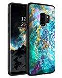 """BENTOBEN Case for Galaxy S9, Ultra Slim Luminous Noctilucent Protective Phone Cases with Lanyard for Samsung Galaxy S9 5.8"""" - Mandala in Galaxy"""