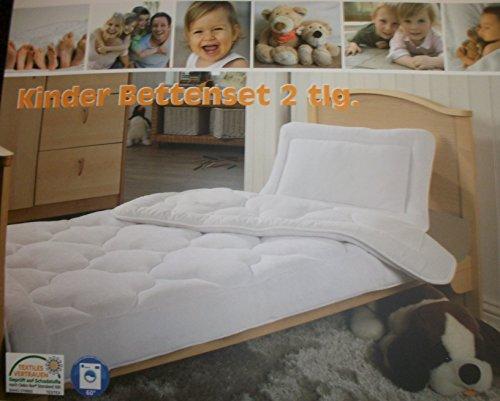 Ortho-Vital Junior Kinder Betten Set 2 tlg. 100x135 cm + 40x60 cm Oeko-Tex Sommer / Winter