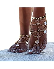 Kercisbeauty teen enkel ketting zilver enkel Boho blootsvoets sandaal accessoires vrouwen meisjes strand festival partij sieraden verstelbaar