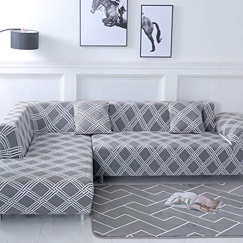 WXQY Funda de sofá Familiar, se Puede Utilizar para Chaise Longue de Esquina en Forma de L, Funda de sofá elástica, Funda de sofá elástica para Sala de Estar A1 de 3 plazas