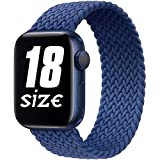 FuNiang - Cinturino di ricambio elastico intrecciato compatibile con Apple Watch 42 mm 44 mm, Sport Elastic Band per IWatch Series SE/6/5/4/3/2/1 e alluminio, colore: blu