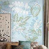 Qqasd Fondo de pantalla de fotos en 3D para paredes Decoración del hogar Moderna Fashion Plant Leaves Living Room Sofa TV Background Mural Wall Art Design-100X70CM