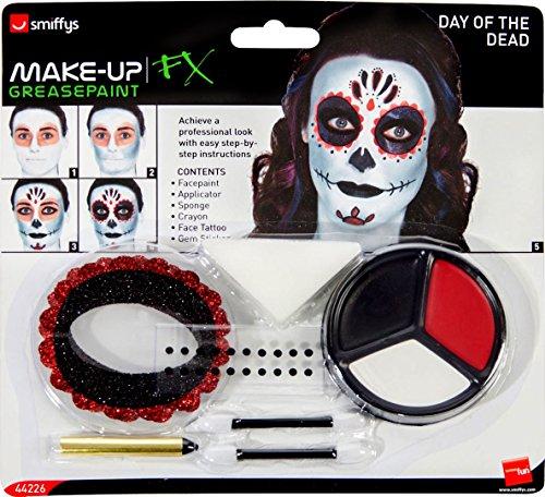 Smiffys-44226 Kit Maquillaje día Muertos