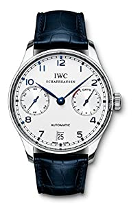 IWC Portuguese Automatic Steel Blue Mens Watch IW500107 image