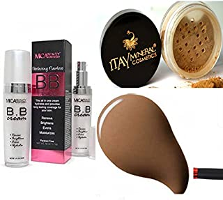 Lot 2 Items: 1x Mica Beauty BB Cream + Matching Itay Mineral Loose Powder Foundation (Chocolate)