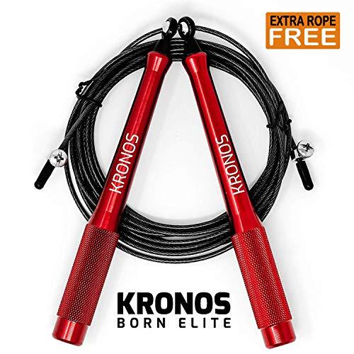 Kronos Corda per Saltare per Crossfit - Speed Rope Professionale x Double Under con Cavo Extra - 3mt