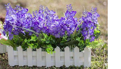 2018 Decoratieve bloemen kunstmatige zijde mini bloemen en planten voor indoor decoratie (zeer veel kleur) in een pot fake hanging Vine plant bladeren slinger huis tuin muur gegoten 30cm, D
