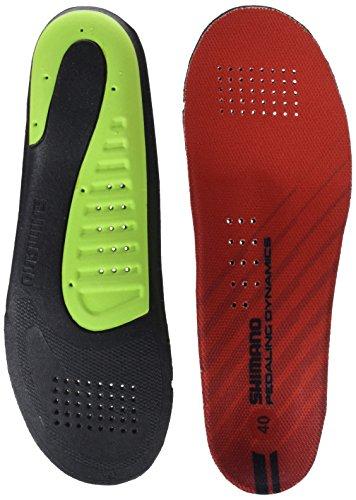 SHIMANO Adultos Dual Density Comodidad Plantillas, Todo el año, Unisex, Color Rojo - Rojo, tamaño 49-50