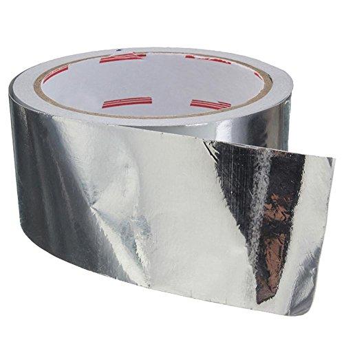 Funihut - Nastro adesivo in alluminio, resistente al calore, ad alta temperatura, per riparazioni HVAC, condotte, isolamento, asciugatrice, 5 cm x 17
