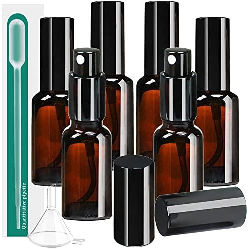 スプレーボトル アルコール対応 遮光 6本セット 30ml 茶色 ガラス 霧吹き スプレー 消毒 容器