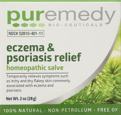 Puremedy Unscented Eczema and Psoriasis Relief Homeopathic Salve, 2 Ounce