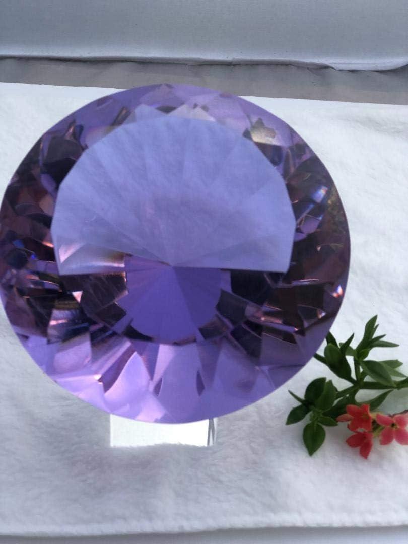#120mm Crystal Diamond Paperweight Mesa Mall Jewel purple Deluxe