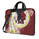 Washington American Football Reds_Kins Laptop Shoulder Bag | Laptop Or Tablet/Sleek/Durable and Water-Repellent Fabric - Lightweight Toploader/Business Casual Or School 15.6 Inch