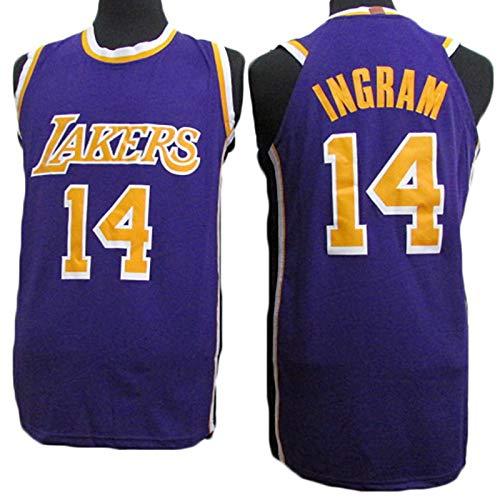 Ropa de baloncesto para hombres, Los Ángeles Lakers 14 # Brandon Ingram Swingman Nba Jersey, deportes al aire libre Uniformes de baloncesto Camiseta sin mangas Camiseta deportiva Chaleco superior,1,S
