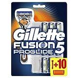 Gillette Fusion5 Proglide Rasoir Homme + 10 Lames de Recharges [OFFICIEL]