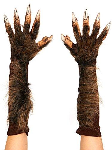 Zagone Studios Brown Wolf Animal Costume Gloves Claws