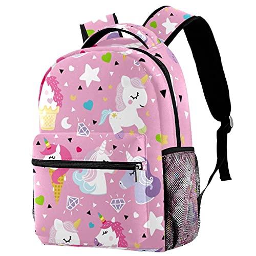 KeepCart zaino bookbag daypack borsa da scuola escursionismo backpacking Impara ad alta capacità e carino all'aperto Dessin animé Licorne Diamond per uomini e donne