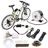 Keenso 9 unids/Set Kit de conversión de Bicicleta, 250 W 24 V, Juego de Motor de Cepillo, Accesorio de Kit de Alta Velocidad para conversión de Bicicleta