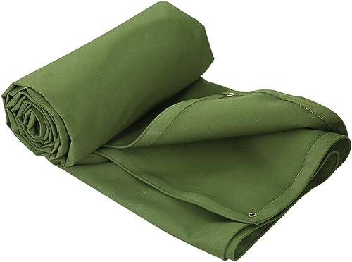 TAO-bache imperméable Verte épaissie - La bache en Polyester Durable Comprend des Oeillets pour la Prougeection Solaire au Camping (Taille   4x4m)